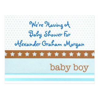 Baby Boy Adoption or Birth Announcement Postcard