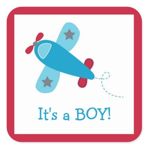 Baby Boy Airplane Stickers