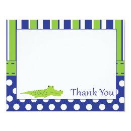 Baby Boy Alligator Thank You Card