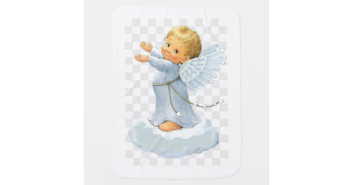 Baby Boy Angel Baby Blanket Zazzle Com