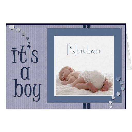 Baby Boy announcement Card - Customized | Zazzle