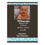 baby boy announcement  photo card post card