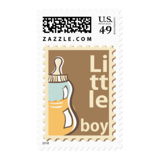 Baby Boy Announcement Postage Stamps