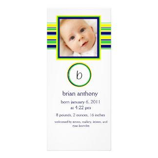 Baby Boy Announcement Rack Card Template