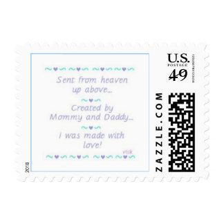Baby Boy Announcement Stamp