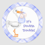 Baby Boy Announcement Stickers