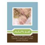 Baby Boy Announcement Template - Customized Post Cards