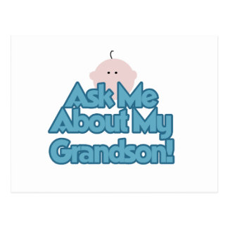 Baby Boy Ask About My Grandson Gifts Postcard