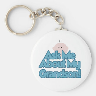 Baby Boy Ask About My Grandson Tshirts and Gifts Keychains