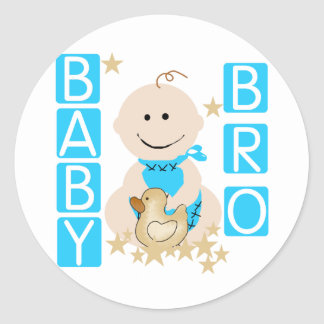 Baby Boy Baby Bro Tshirts and Gifts Classic Round Sticker