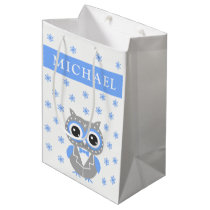 Baby Boy Baby Shower Cute Owl Gift Bag