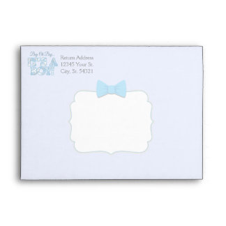 Baby Boy Baby Shower Envelopes
