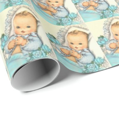 Boys Christening Gift Wrapping Paper Zazzle Com