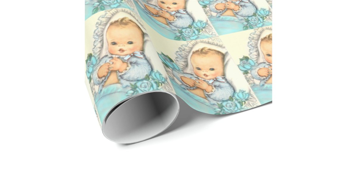 baby boy baby shower gift wrap paper zazzle