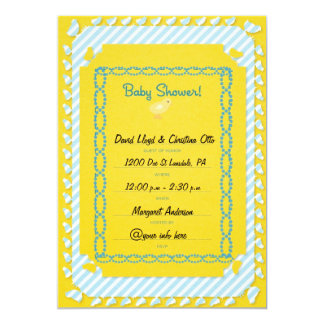 Baby Boy Baby Shower Invatations 5x7 Paper Invitation Card