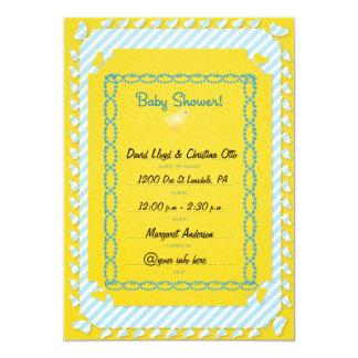 "Baby Boy Baby Shower Invatations 5"" X 7"" Invitation Card"