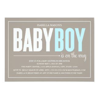 Baby Boy | Baby Shower Invite