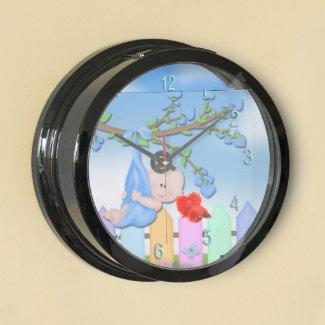 Baby Boy - Backyard Aqua Clock