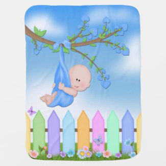 Baby Boy - Backyard Cute Baby Blanket