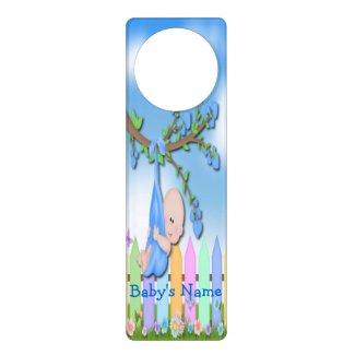 Baby Boy - Backyard Door Hanger