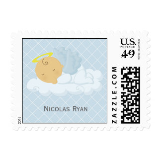 Baby Boy Baptism Postage Stamps