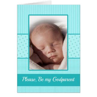 Baby Boy be my Godparent  Invitation