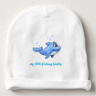baby boy beanie hat with dolphin