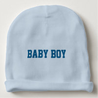 Baby Boy Beanie with Personalized Lettered Name