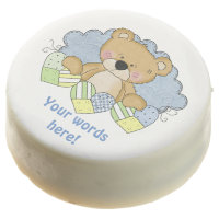 baby boy bear add words dipped oreo cookie