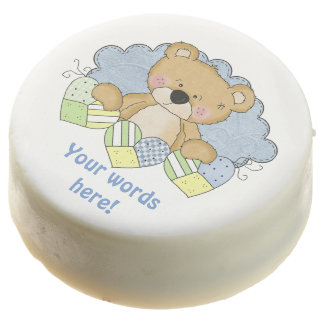baby boy bear add words dipped oreo cookie chocolate covered oreo