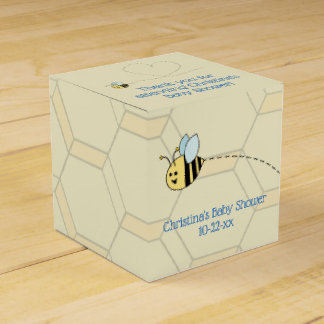 Baby Boy Bee Favor Box