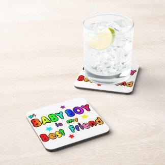 Baby Boy Best Friend Drink Coaster