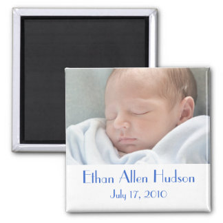 Baby Boy Birth Announcement Magnets