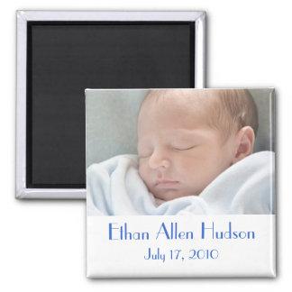 Baby Boy Birth Announcement Magnets