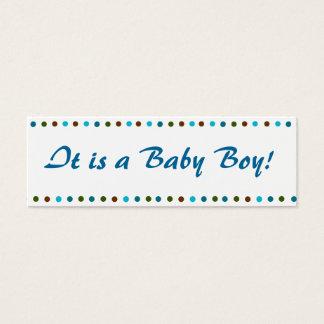 Baby Boy Birth Announcement Mini Business Card