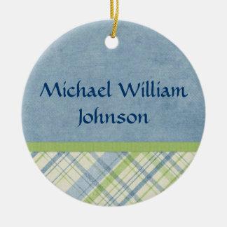 Baby Boy Birth Announcement Ornament Keepsake