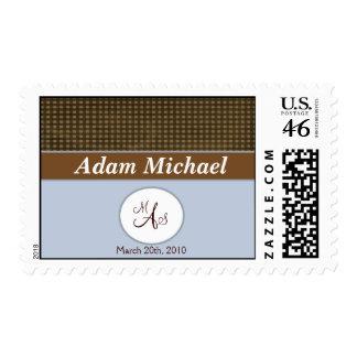 Baby Boy Birth Announcement Postage Stamp