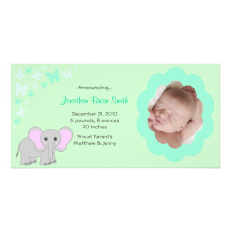 Baby Boy Birth Announcements Photo Card