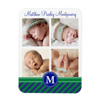 Baby Boy Birth Keepsake Personalized Photo Magnet