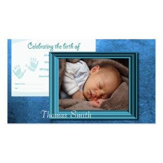 Baby Boy Birth Photo Keepsake Business Card