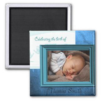 Baby Boy Birth Photo Keepsake Magnet