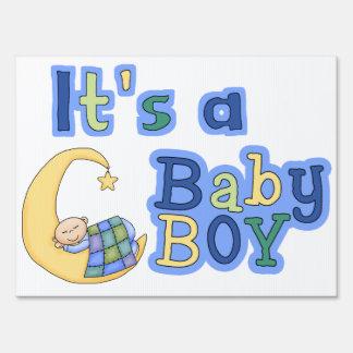 Baby Boy Birth Yard Sign