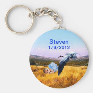 Baby boy birthday reminder keychain