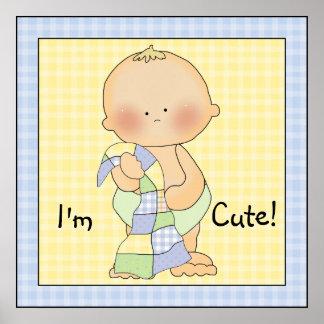 Baby Boy Blanket Poster Art Print