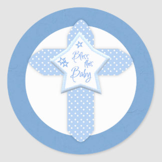 Baby Boy Bless this Baby Customizable Stickers