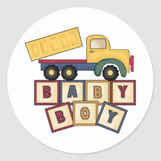 Baby Boy Blocks Stickers