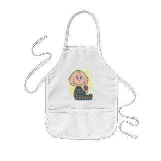 Baby boy blonde hair and blue eyes kids' apron