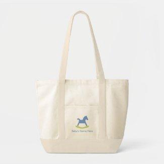 Baby Boy Blue and Yellow Rocking Horse Bag bag
