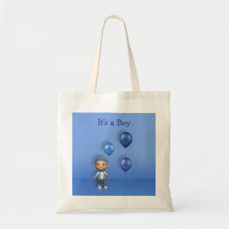 Baby Boy & Blue Balloons - It's a Boy Budget Tote