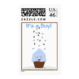 Baby Boy Blue Brown Sprinkle Postage